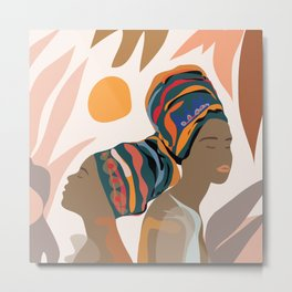 Women with the Turbans Metal Print