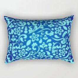 Flamboyant flower bed - Winter garden Rectangular Pillow