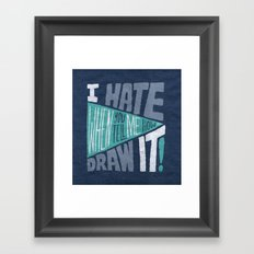 How to Draw it. Framed Art Print
