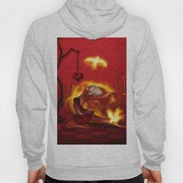Wonderful fairy of fire with fire birds Hoody