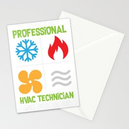Professional HVAC Technician HVAC Heating Cooling Gift print Stationery Cards