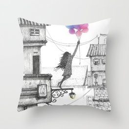 My New Story Throw Pillow