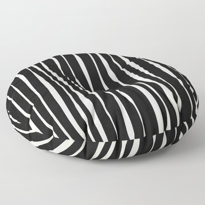 Retro Stripe Floor Pillow