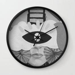 What is Art? (Black and White) Wall Clock