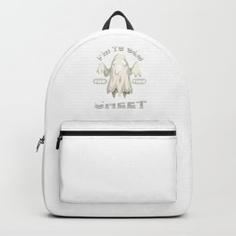 To Old For This Sheet Ghost Halloween Spooky Gift Backpack