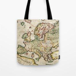 Vintage Map of Europe (1596) Tote Bag