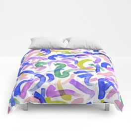 Brushstroke Party Wild & Free Comforters