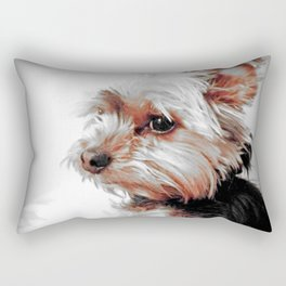 Bad day, eh?!! | Dog | Yorkie | Nadia Bonello Rectangular Pillow