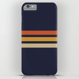 Vintage Retro Stripes iPhone Case