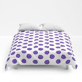 Purple flowers on white Comforters
