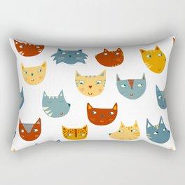 Many Cats Rectangular Pillow