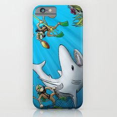 Monkeys Fighting Shark Slim Case iPhone 6s