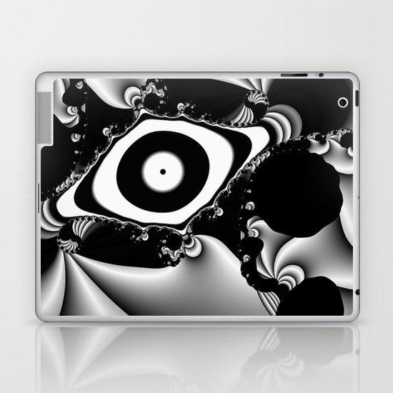 Black and White Fractal 14 Laptop & iPad Skin