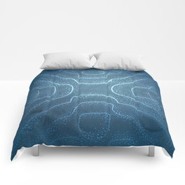 Chladni Pattern - Light Blue by Spencer Gee Comforters