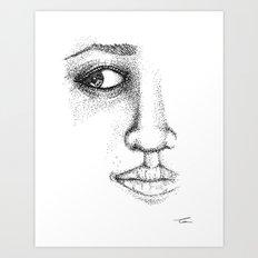 Fine Liner Stippling Girl 1 Art Print