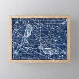 Pisces sky star map Framed Mini Art Print
