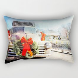 Christmas In Taos, New Mexico Rectangular Pillow