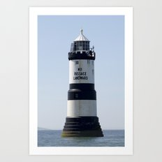 Black point lighthouse Art Print