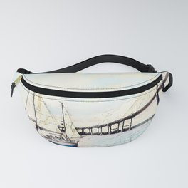 Charleston South Carolina - Sailboat - Arthur Ravenel Jr Bridge Fanny Pack
