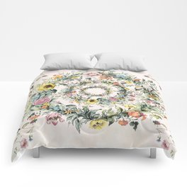 Circle of life- floral Comforters