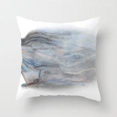 Bursting through Throw Pillow