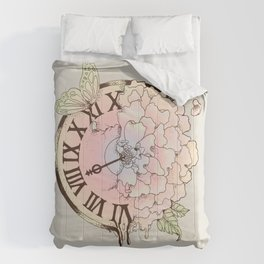Il y a Beauté dans le Temps (There is Beauty in Time) Comforters
