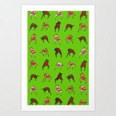 Cow Dancers 2 Art Print