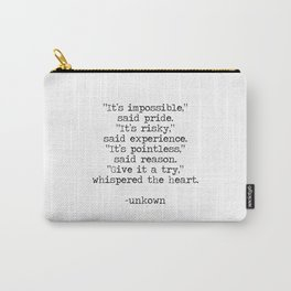 Follow the heart Carry-All Pouch