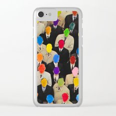 Rainbow people Clear iPhone Case