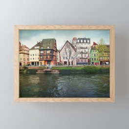 Quai des Bateliers Framed Mini Art Print