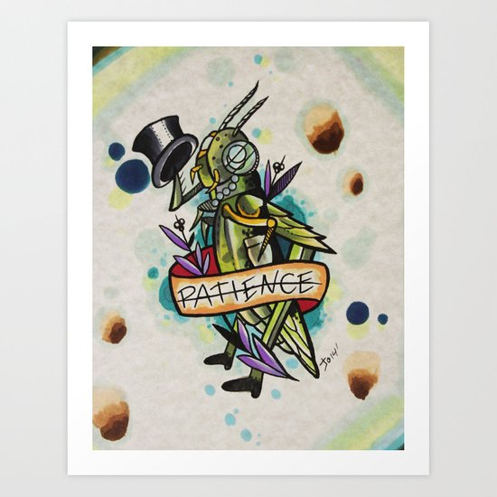 Patience Grasshopper Art Print