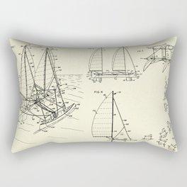 Outrigger Sailboat-1977 Rectangular Pillow