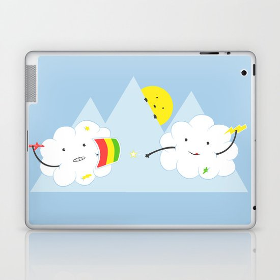 Cloud Fight Laptop & iPad Skin