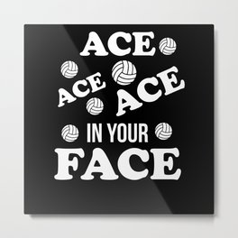 Volleyball Ace Gift Metal Print