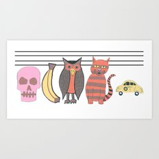 The Unusual Suspects Art Print