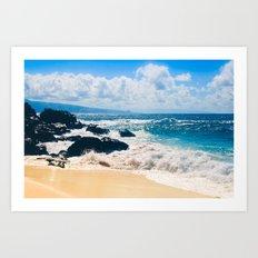 Hookipa Beach Maui Hawaii Art Print
