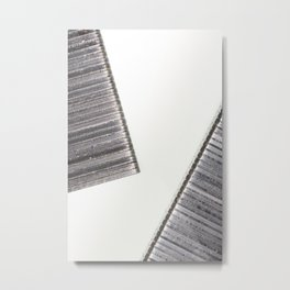 Abstract image composed of two office staples slats Metal Print