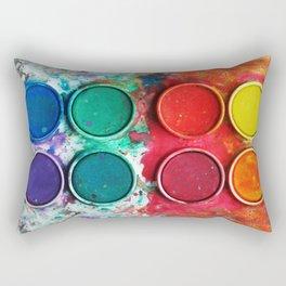 Paintbox Color Palette Rectangular Pillow