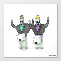 It's Wine in a Box Canvas Print