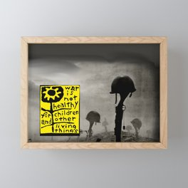 War is not healthy Framed Mini Art Print