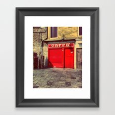 Caffè in Red Framed Art Print