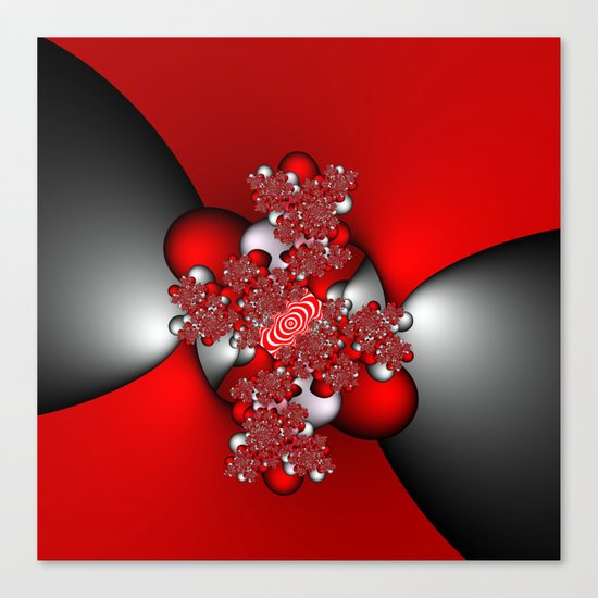 Red and Silver and Black Canvas Print