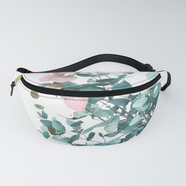 Rose and Teal Eucalyptus bouquet Fanny Pack
