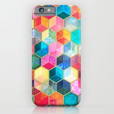 Crystal Bohemian Honeycomb Cubes - colorful hexagon pattern  iPhone 6 Slim Case