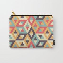 Pastel Geometric Pattern Carry-All Pouch