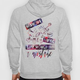 Fun Design with Musical Instruments Hoody