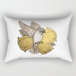 Sparrw + Tulip Rectangular Pillow