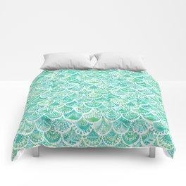 VENUS DE MER Aqua Mermaid Scales Comforters