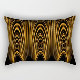 Golden Arch Tribal Design Rectangular Pillow