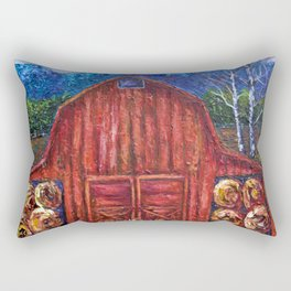 Red Barn by Lena Owens Rectangular Pillow